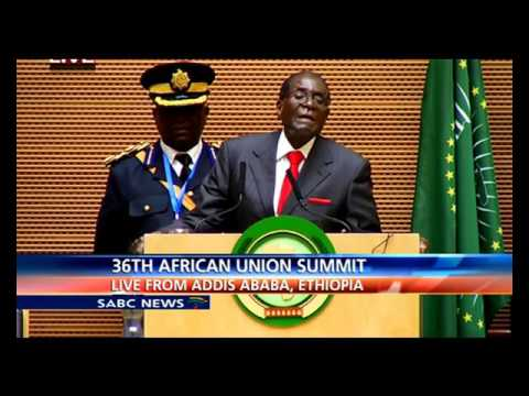 AU Chair Robert Mugabe address: 26th AU Summit