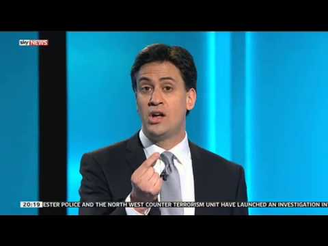 Leaders' Debate - Ed Miliband Vs David Cameron On Tax