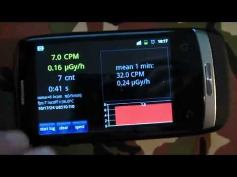 "REVIEW: ""radioactivity counter"" - geiger counter app for smartphone"