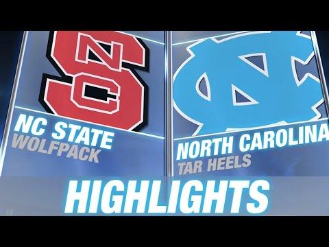 NC State Vs North Carolina | 2014 ACC Football Highlights