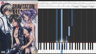 Gravitation - Glaring Dream / Anime Piano Tutorial Sheet Music