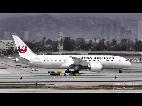 Japan Airlines 787 Landing at LAX