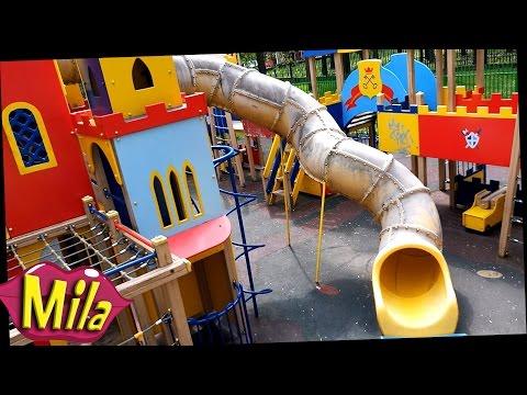 Крутая Детская Площадка Сказочное Королевство 🎈 Большие Туннельные Горки Внутри Трубы