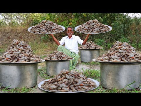 Giant Loose prawns | Big Shrimp Snacks By Grandpa Recipe | Grandpa Kitchen