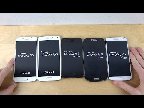 Samsung Galaxy S6 vs. Galaxy S5 vs. Galaxy S4 vs. Galaxy S3 vs. Galaxy S2 - Which Is Faster?