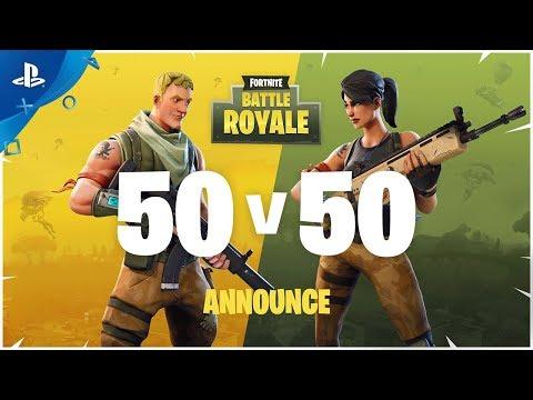 Fortnite – TGA 2017: Battle Royale 50v50 Announce | PS4