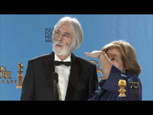 Backstage with Michael Haneke, director of Amour, best foreign language film