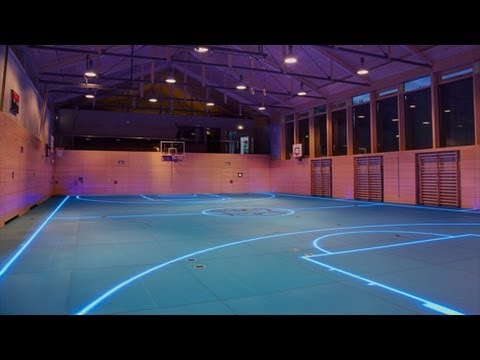 Tron Basketball Court is a Game Changer