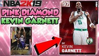 NBA 2K19 PINK DIAMOND KEVIN GARNETT IN MYTEAM + NEW GALAXY OPAL REWARD