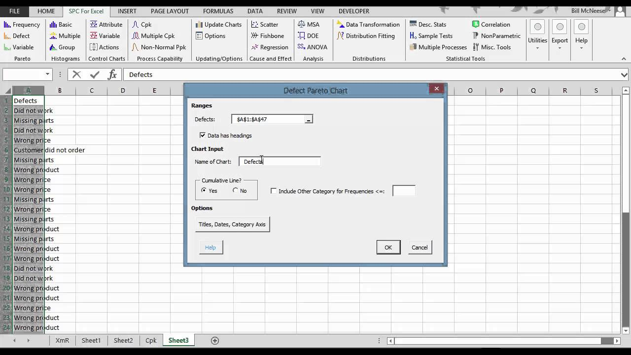 spc for excel  simple but powerful