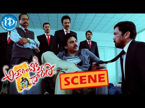 Atharintiki Daredi Movie Scene – Pawan Kalyan Warning To Posani – Samantha | Pranitha | Trivikram Photo Image Pic