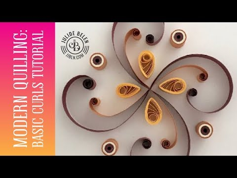 JJBLN  Quilled Paper Art Tutorial for Beginners How to Do Basic Curls and Multi-Colored Circles