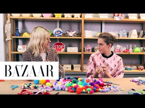 Crafting with Allison Williams | Harper s Bazaar The Look