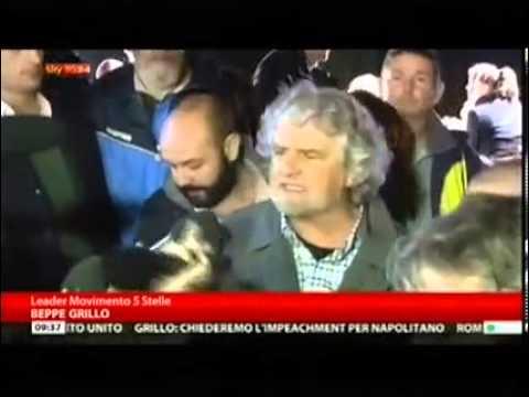"""25/10/2013 Sky TG24 su M5S, Grillo""""Impeachment Napolitano"""""""