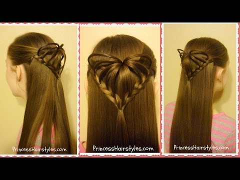 Half Up 3D Heart Hairstyle, Valentine's Hairstyles