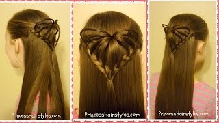 Half Up 3D Heart Hairstyle, Valentine