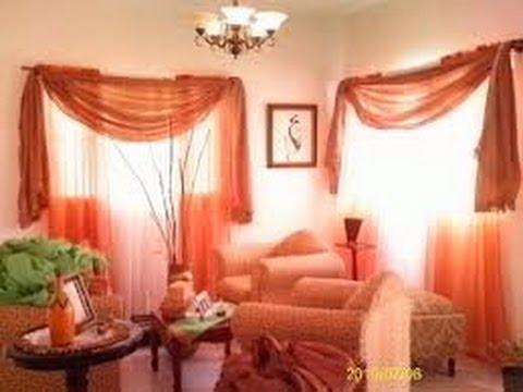 Como hacer cortinas elegantes para salas 10 youtube for Como poner ganchos de cortinas