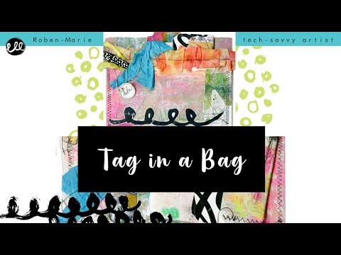 Tag in a Bag | Playing Tag Art Challenge Tutorial