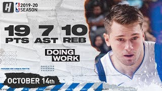 Luka Doncic EPIC Full Highlights vs OKC Thunder (2019.10.14) - 19 Pts, 10 Reb, 7 Ast!
