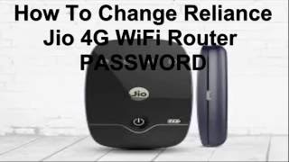 how to change reliance jio router password IN[HINDI]