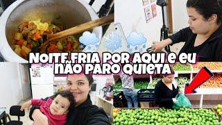 COMPRAS NO SACOLÃO - DESEJO DE COMER SOPA NA NOITE FRIA E CHUVOSA ❄️🌨️🌧️😋🍲