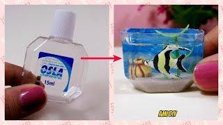 DIY Miniature Aquarium / Cách làm bể cá cho búp bê / Ami DIY