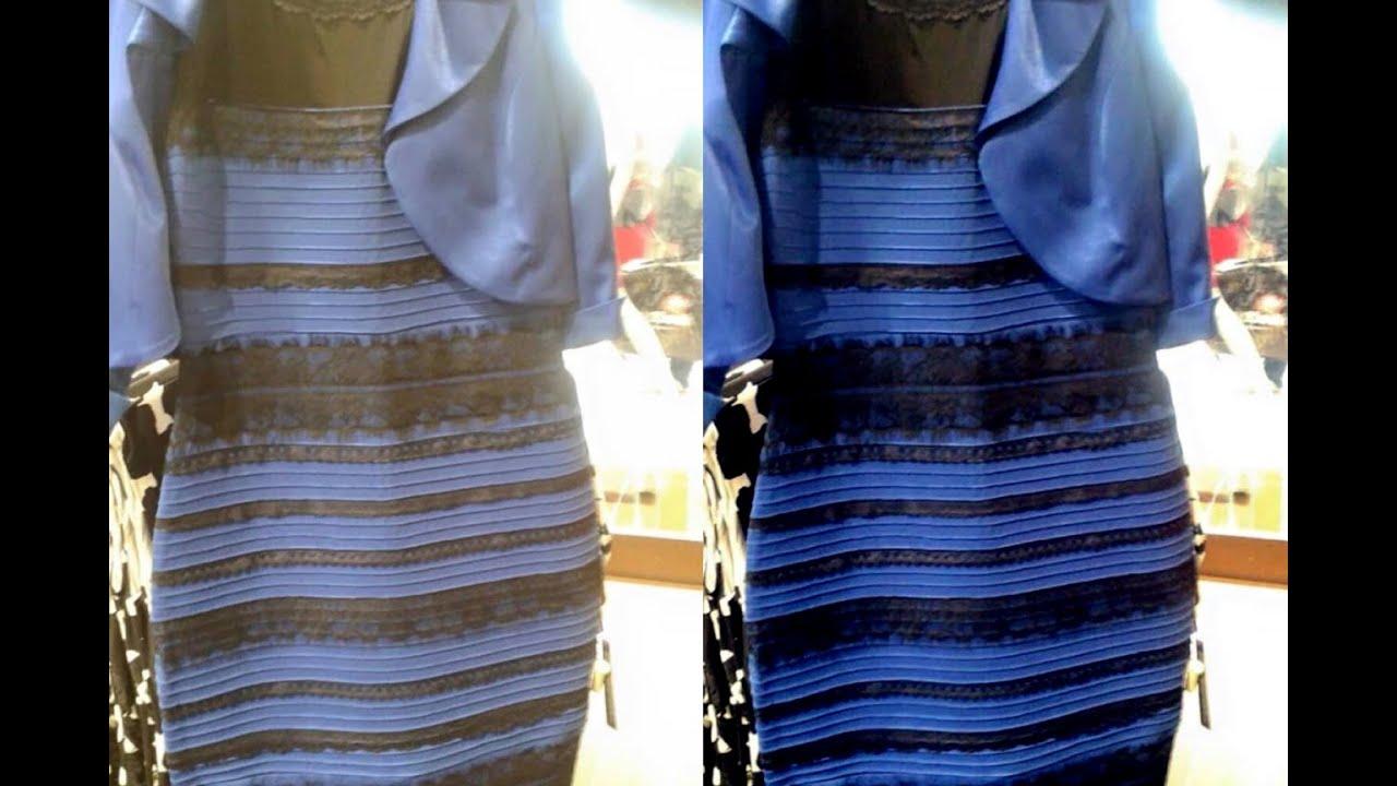 Прикол с платьем синее или золотое
