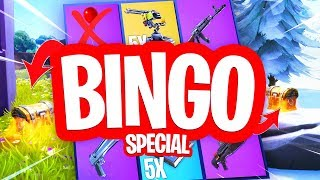 KOP OF MUNT SPECIAL BINGO!! Fortnite Playground Minigames