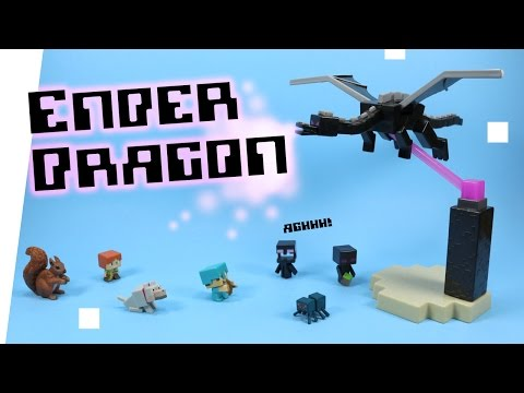 Minecraft Mini-Figure Toy The End Ender Dragon vs. Steve Opening Review