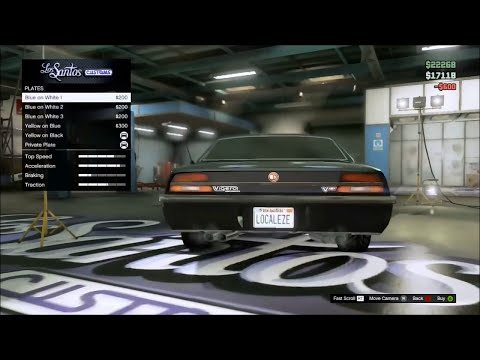 GTA 5 Online- How to Get Custom License Plates