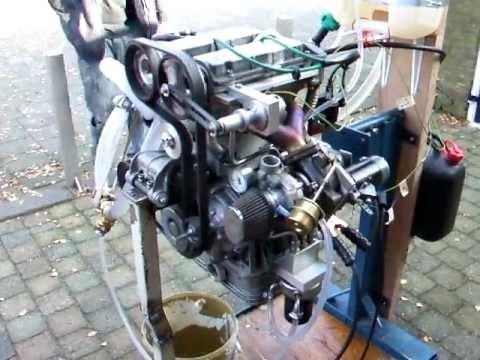 Fiat 500 turbo watercooled 8 valves engine, first run on standard