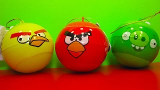 Angry Birds surprise balls unboxing toys Angry Birds sorprenden bolas juguetes unboxing