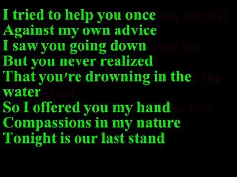 Papa Roach-scars (lyrics) video