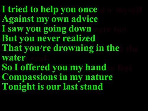 Papa Roach-scars (lyrics) video