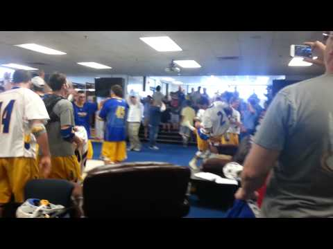 Hofstra men's lacrosse locker room after defeating Cornell in overtime April 14 2014