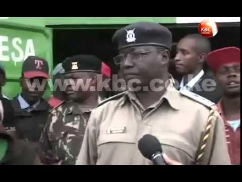 Police in Rurii Trading centre net bhang worth half a million shillings at an M-PESA outlet