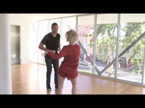 Julianne Hough Salsa Danging with Lewis Howes