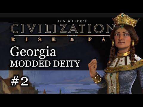 #2 Georgia Modded Deity - Civ 6 Rise & Fall Gameplay, Let's Play Georgia!