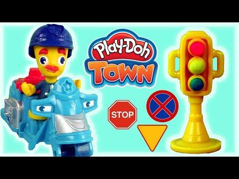 Play Doh Town • Policja • Awaria W Mieście • Bajki I Kreatywne Zabawy