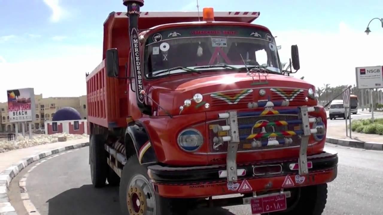 Mercedes benz tipper truck egypt youtube for Old mercedes benz trucks