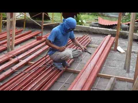 Joining And Welding C Purlins 9 19 12 Youtube