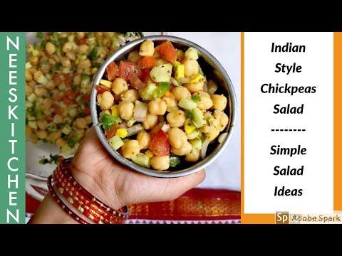 Chickpeas Salad Indian Style | Simple salad ideas 1