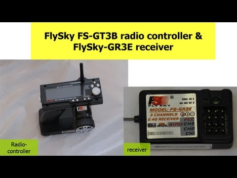 FlySky FS-GT3B radio control & GR3E receiver how to video tutorial.