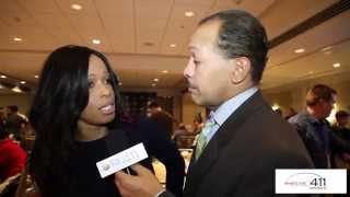 video www.whatsthe411.com - Pam Oliver, Fox Sports Analyst, gives What's The 411 reporter, Andrew Rosario, the