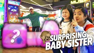 Surprising Baby Sis With Biggest Prize!! | Ranz and Niana
