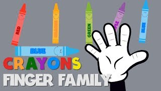 Finger Family Song Learn Colours Crayons Nursery Rhyme Song For Children Kids Toddlers