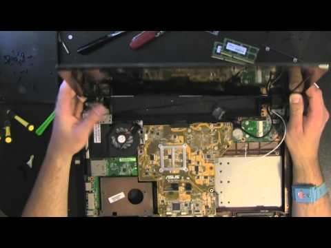 ASUS U52F  take apart. disassemble. how to open disassembly