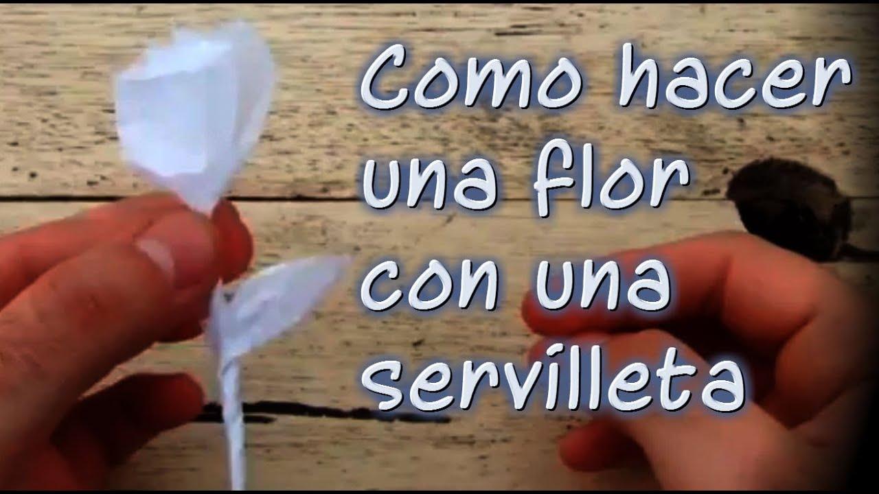 Como hacer una flor con una servilleta youtube - Como hacer una claraboya ...