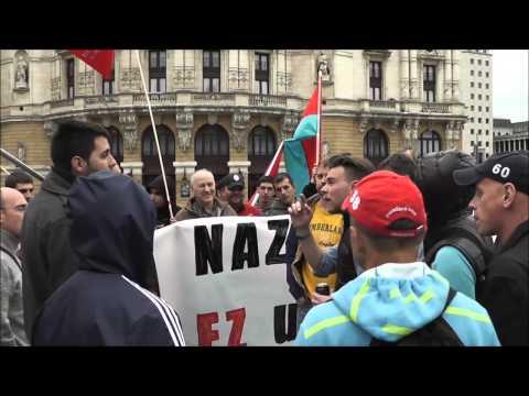 Nazi-faxismoa ez Ukranian, ez inon !! Konzentrazioa Bilboko Arriagan