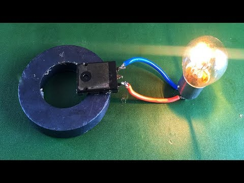 100% Experiment Free Energy​ Device With Light Bulb Using Magnet thumbnail